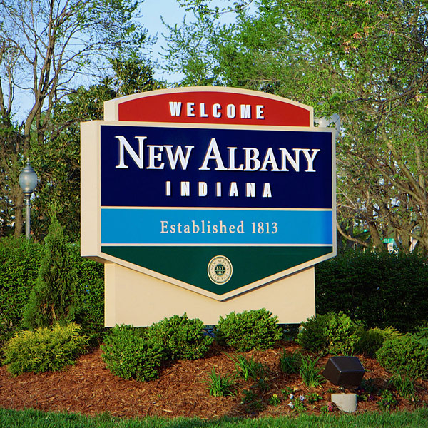 New Albany City Monument Sign